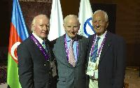 Kuno and Des with EOC President Patrick Hickey