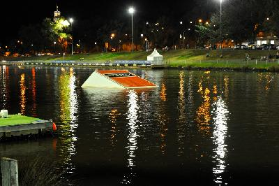 The Moomba ramp at night