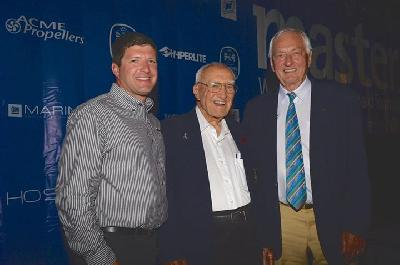 Greg Meloon, the new President of NAUTIQUE together with his 98 year old grandfather Ralph Meloon and IWWF President Kuno Ritschard