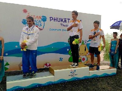 World Cup Star San Im of Korea takes the Gold Medal in Men's Cable Wakeboard
