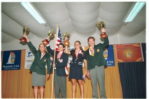 1999 World Champions (Joanne Hamilton, Kyle Cummings, Ashley Lathrop, Wayne Mawer)